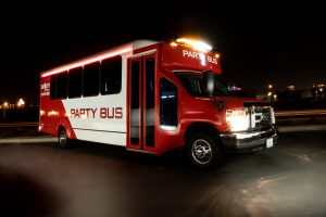 Red Party Bus
